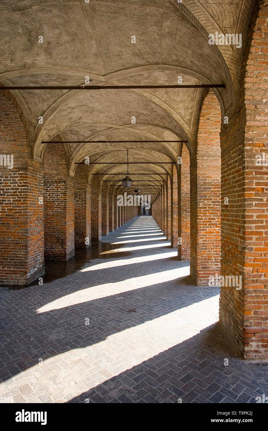 Italy Lombardy, - Sabbioneta - Unesco Site - Galleria degli antichi - Stock Image