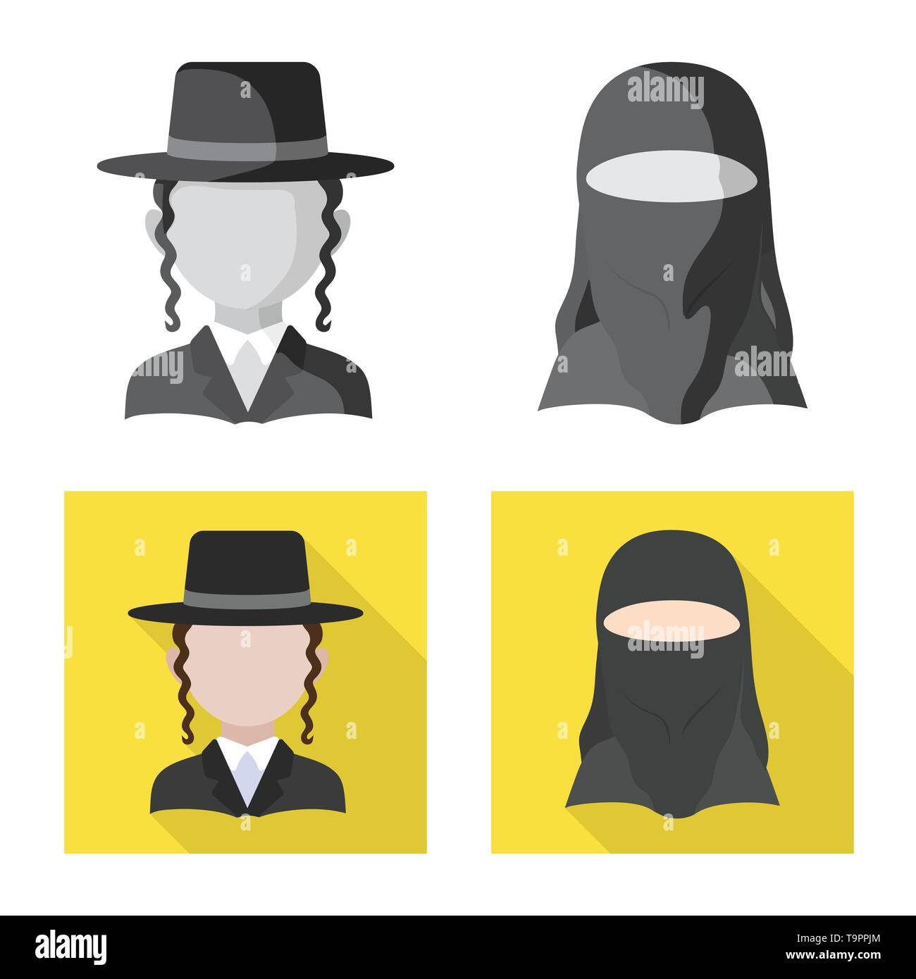 Vector illustration of imitator and resident logo. Collection of imitator and culture vector icon for stock. - Stock Image
