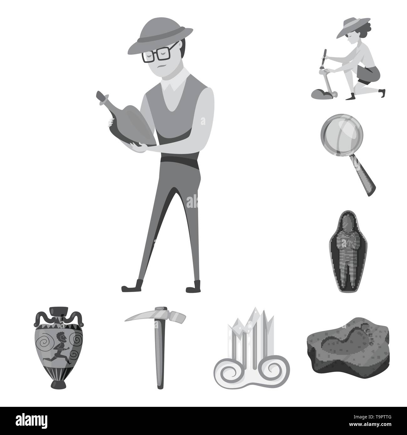 Vector design of story and discovery icon. Set of story and items vector icon for stock. - Stock Image