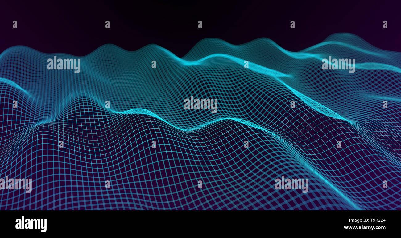 Abstract Big Data Futuristic Light Wallpaper Background