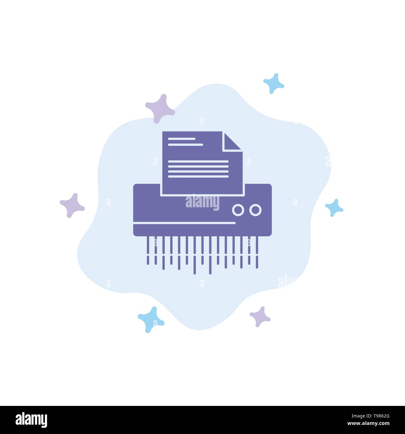 Shredder, Confidential, Data, File, Information, Office, Paper Blue Icon on Abstract Cloud Background - Stock Vector