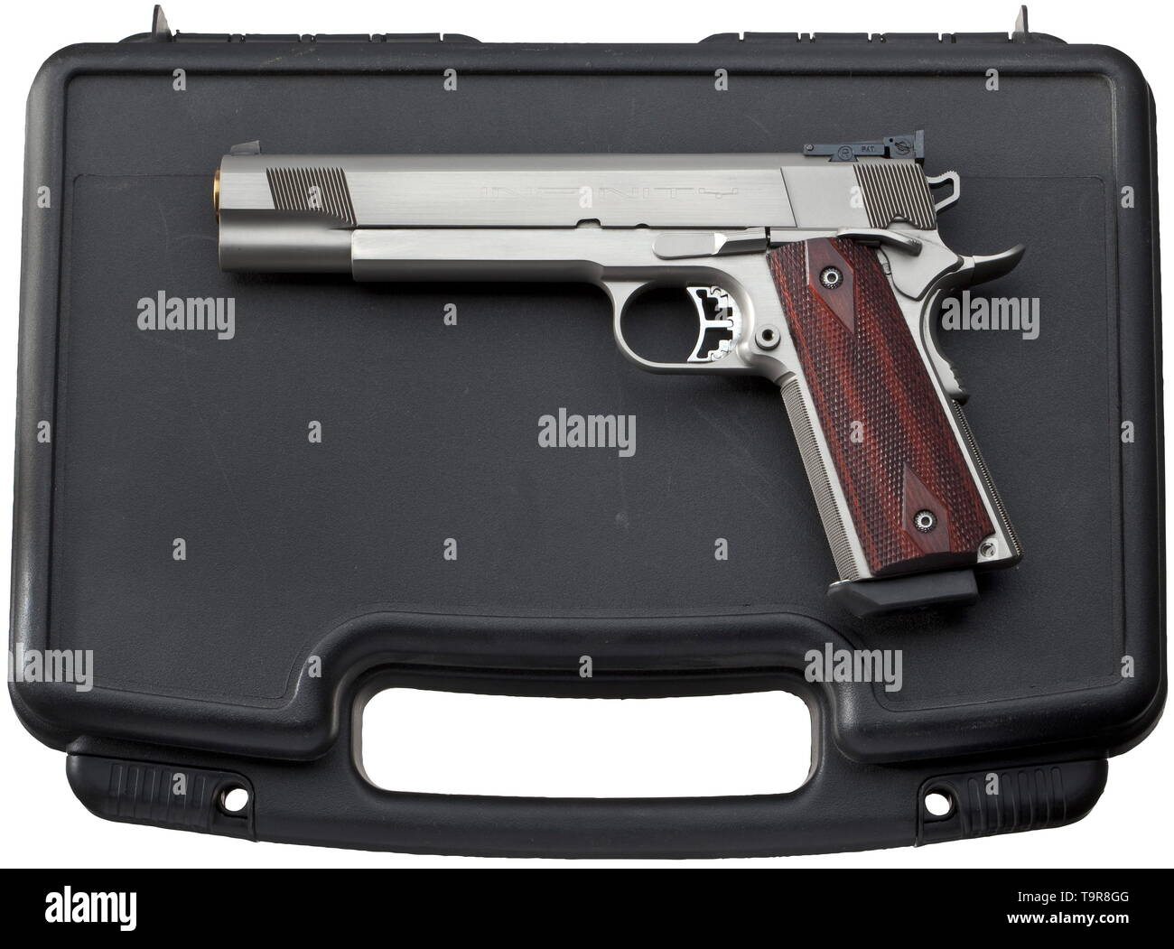 A SVI Strayer Voigt INFINITY 1911, stainless, in its case