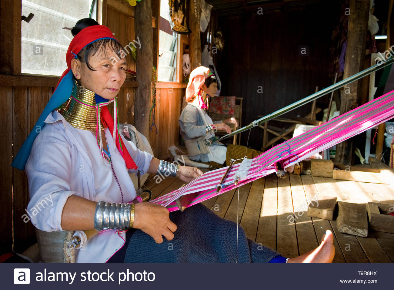 Myanmar, Inle lake, Padaung women - Stock Image