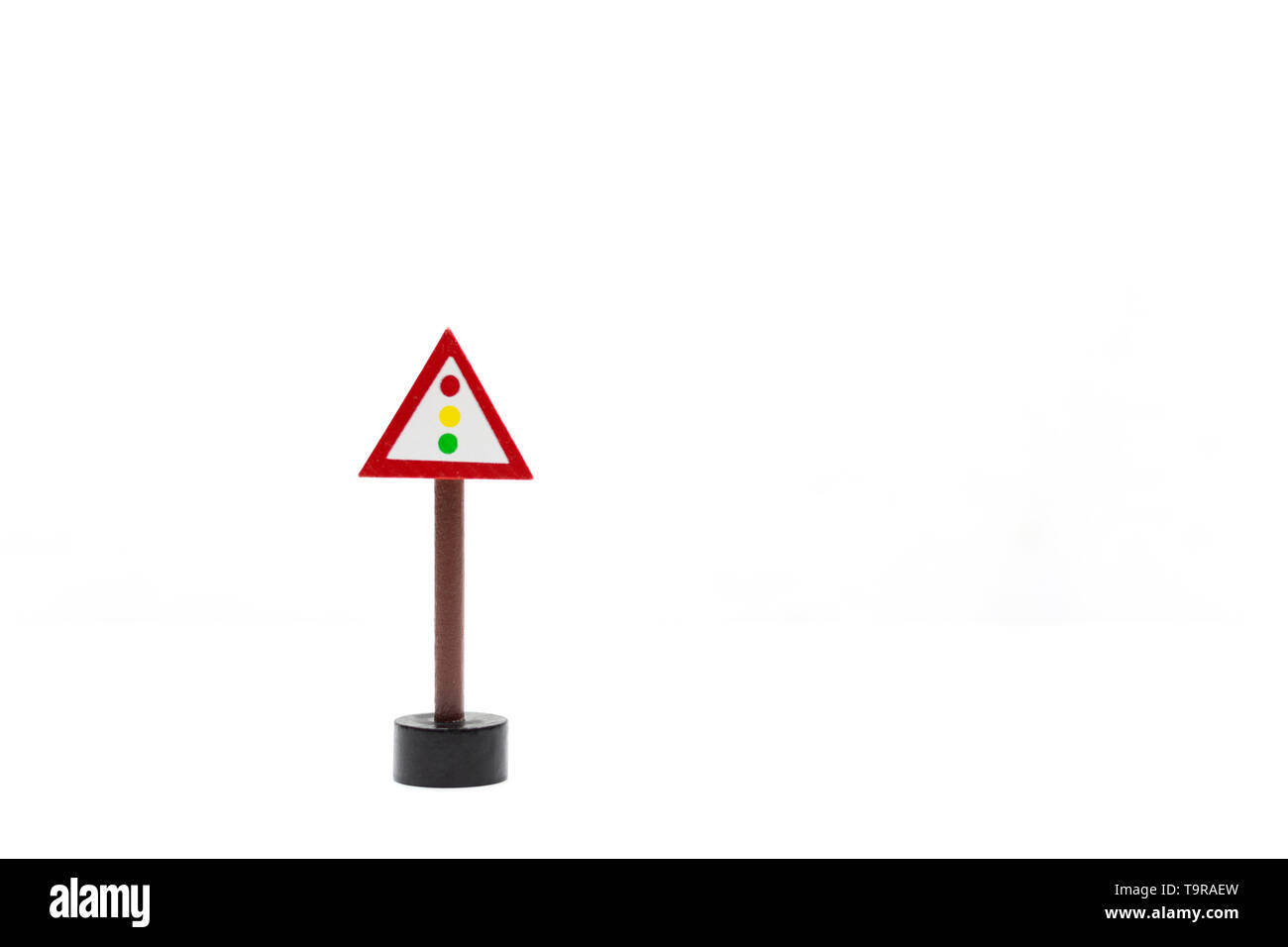 white background with traffic signals. circulation code. learn how to drive. Pass driving license traffic rules.driving license.speed limit Stock Photo