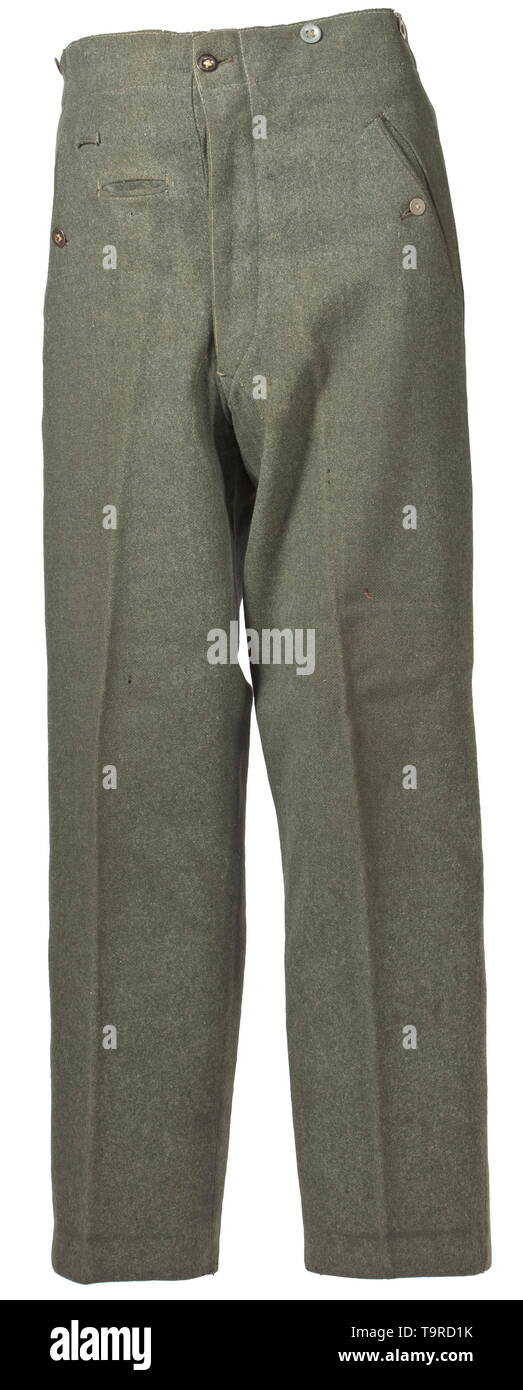 cee8180f9546 A pair of field trousers M 40 for army personnel depot piece Field-grey  woollen