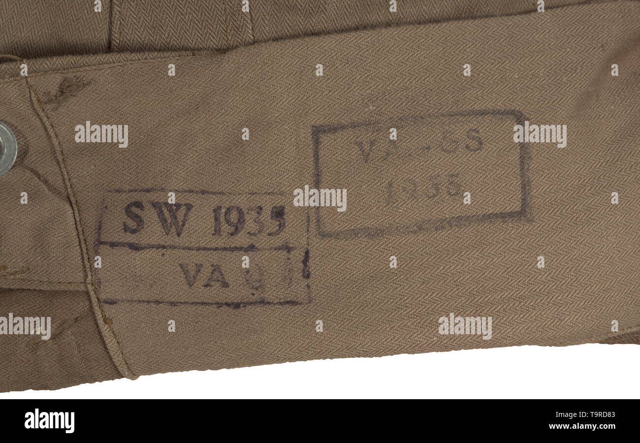 9dd3f63475ec A pair of breeches for the fatigue outfit of the SS dispositional troops  depot piece from