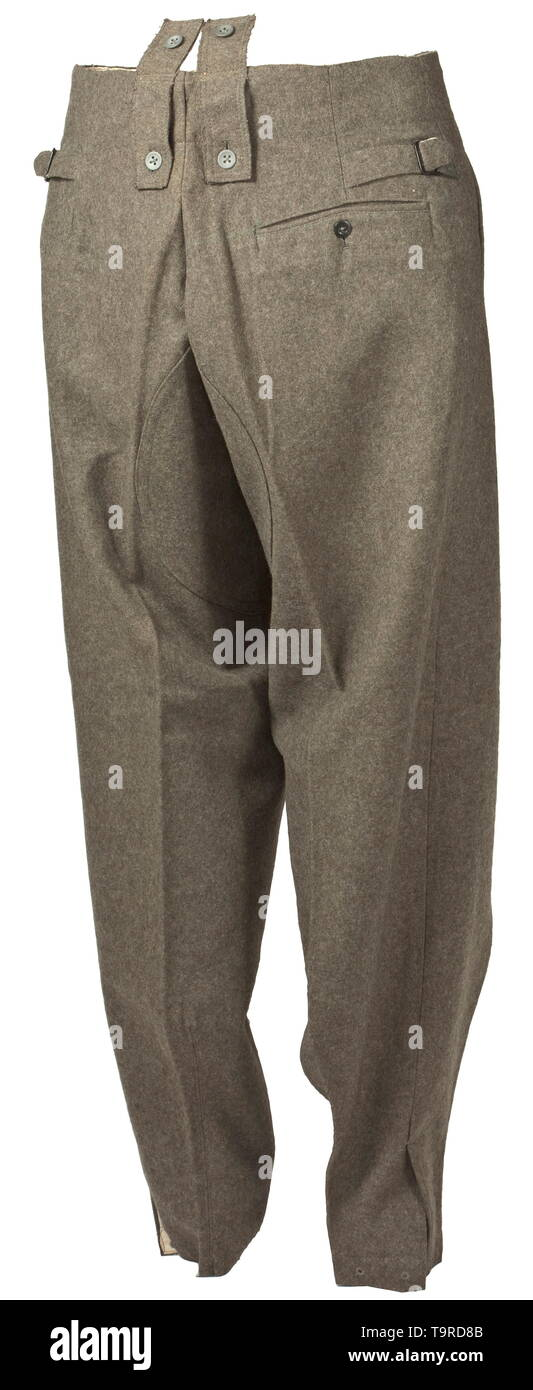 1328460e8f55 A pair of field trousers M 43 for army personnel depot piece Field-grey  woollen