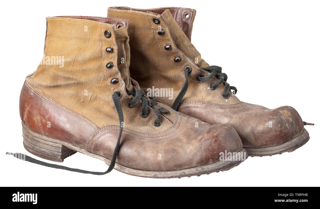 7ae6e044133a A pair of shoes to the tropical uniform for army personnel depot pieces  from 1942 Under