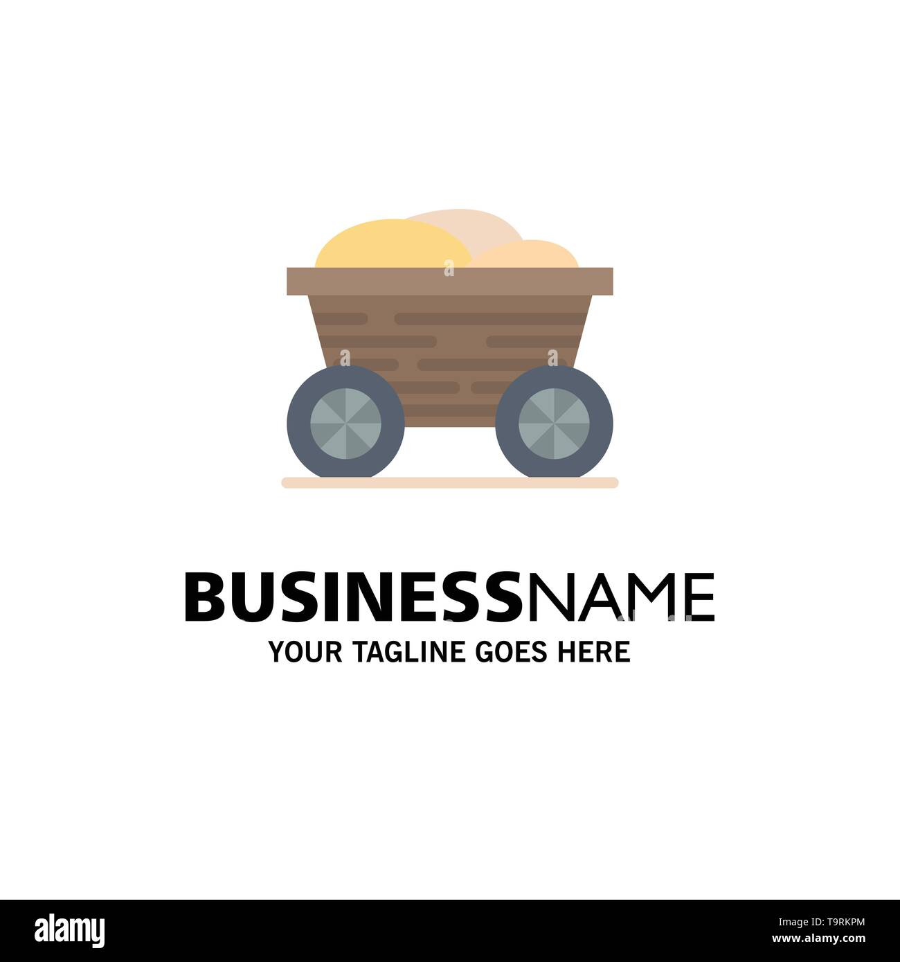 Trolley, Cart, Food, Bangladesh Business Logo Template. Flat Color - Stock Vector