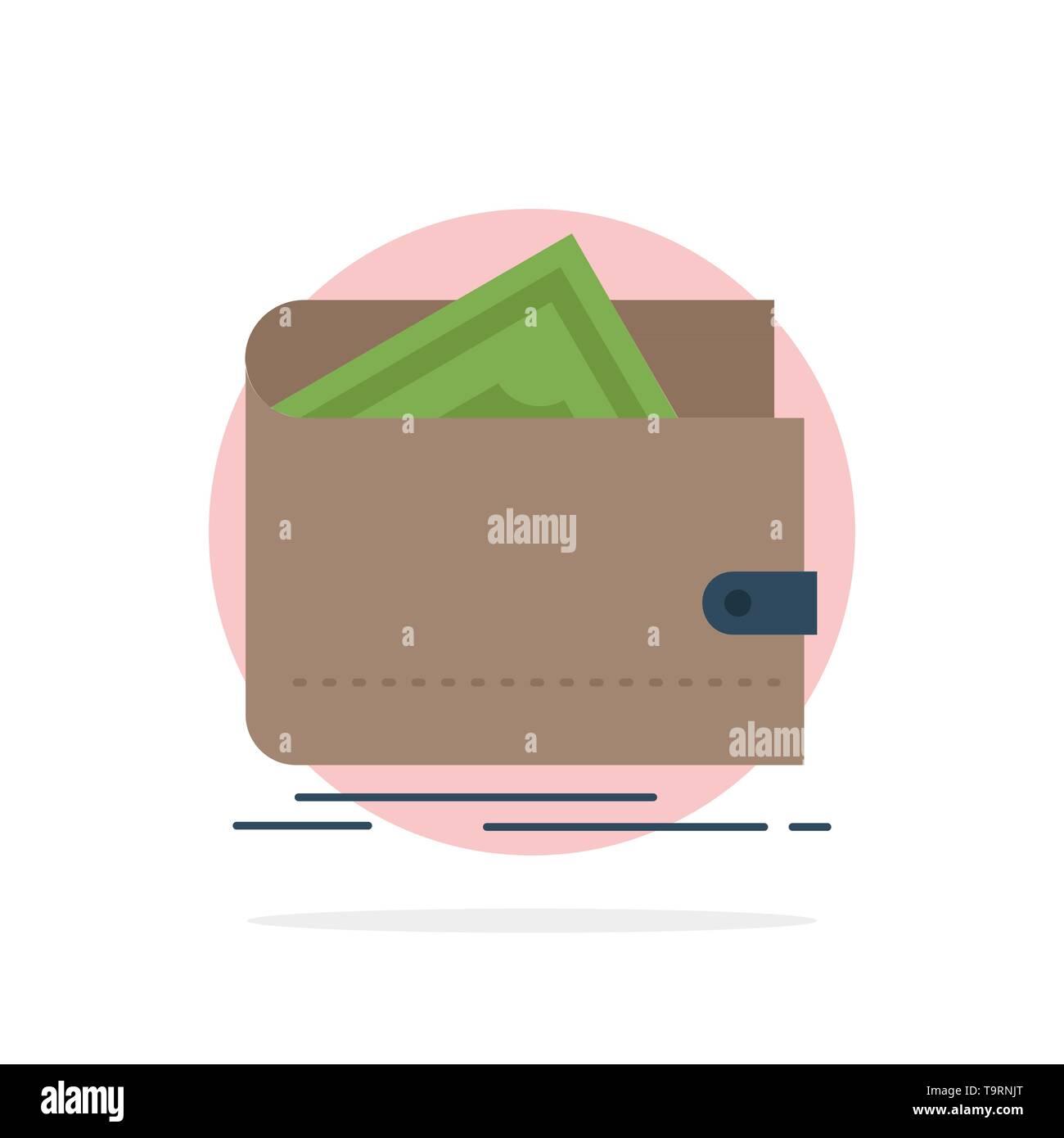 Cash, finance, money, personal, purse Flat Color Icon Vector - Stock Image