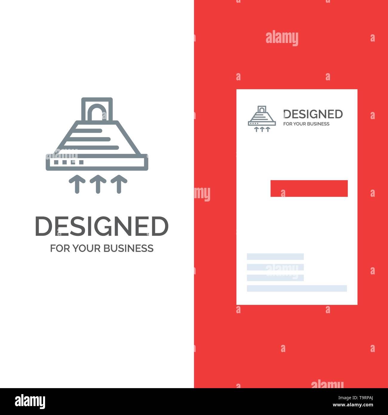 Hood, Cooking, Kitchen, Exhaust, Smoke Grey Logo Design and