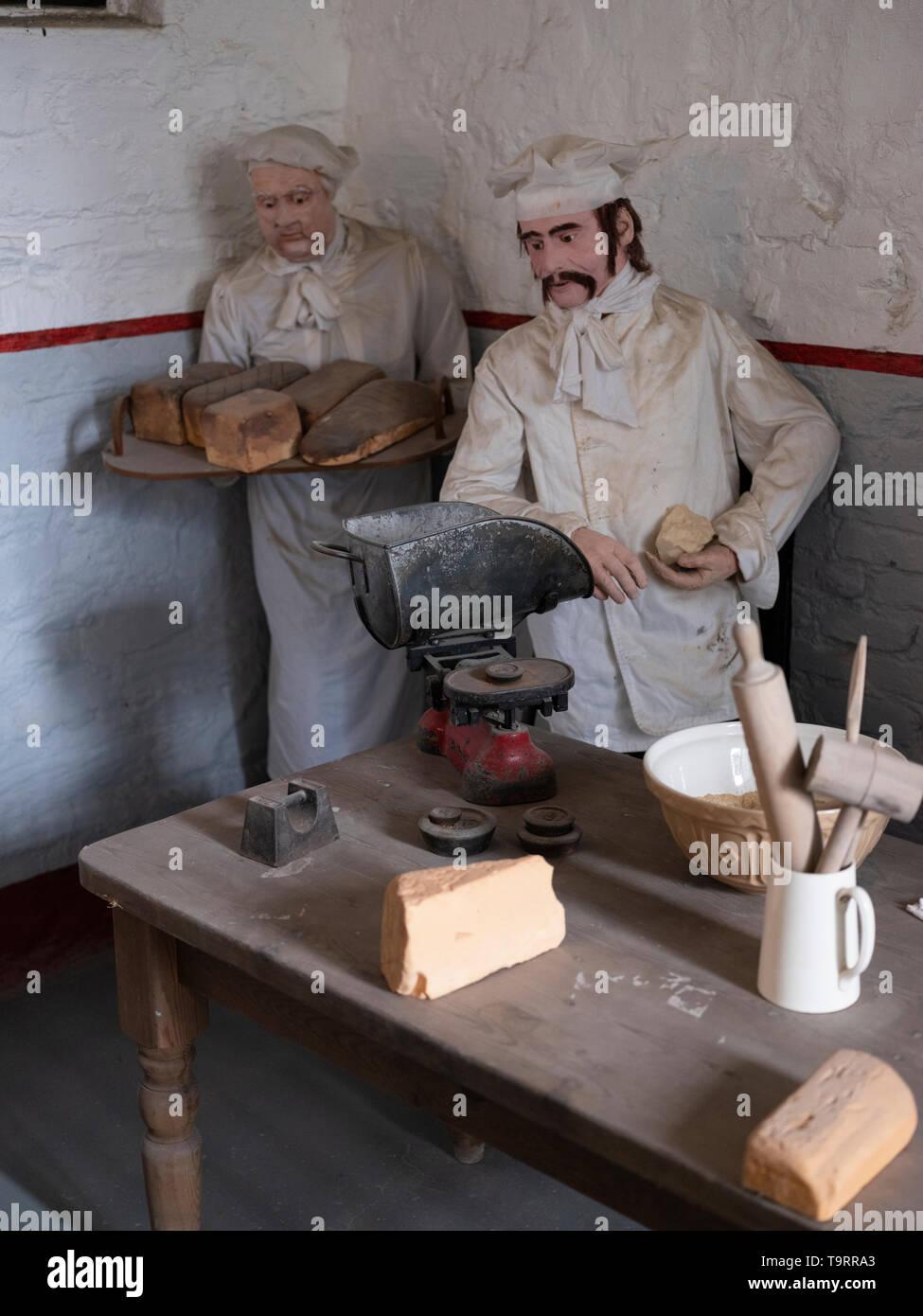 Waxworks in Bodmin Jail, Cornwall, UK. Stock Photo