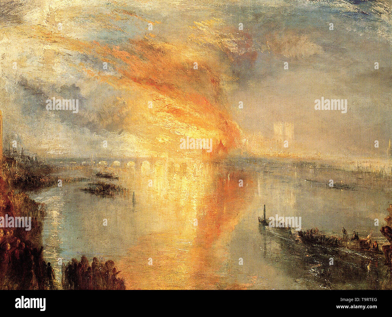 Joseph Mallord William Turner - burning houses parliament 2 1834 - Stock Image