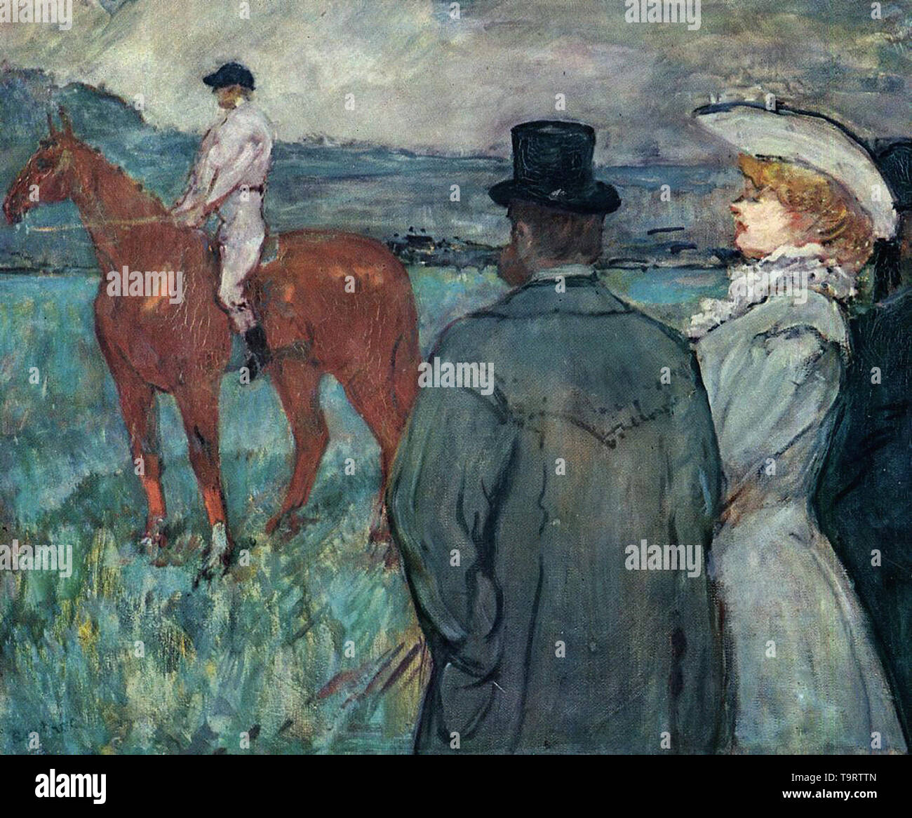 Henri de Toulouse-Lautrec - at races 1899 - Stock Image