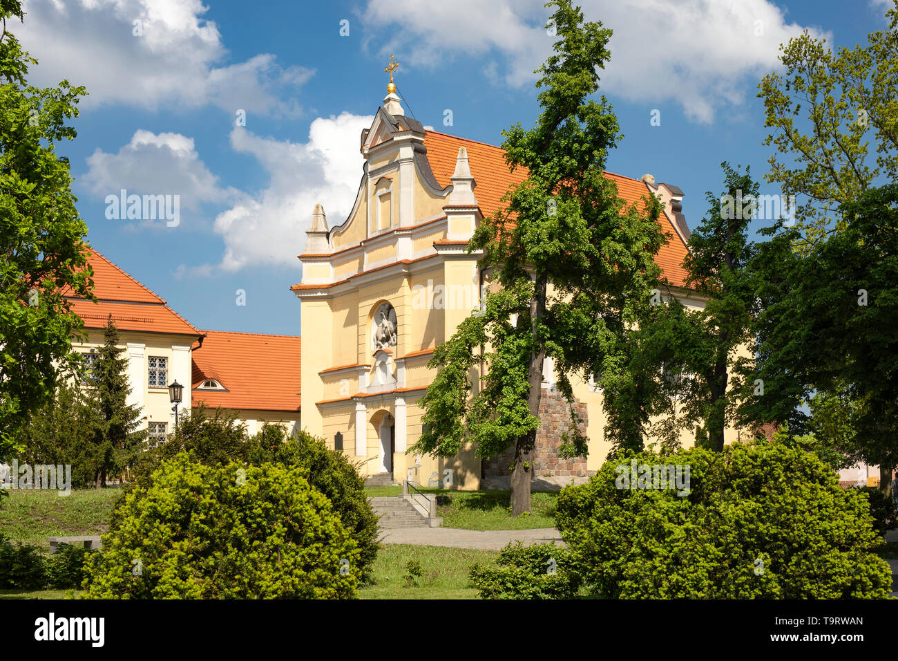 St George's Church in Gniezno, Poland. Old town sacral buildings, architecture of the first polish capital. - Stock Image