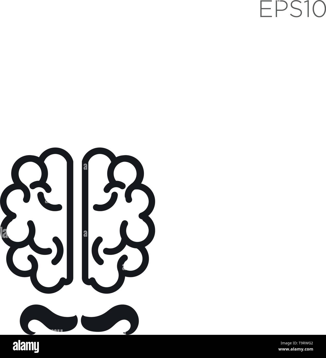 brain talk idea logo template vector illustration icon element isolated - Stock Image