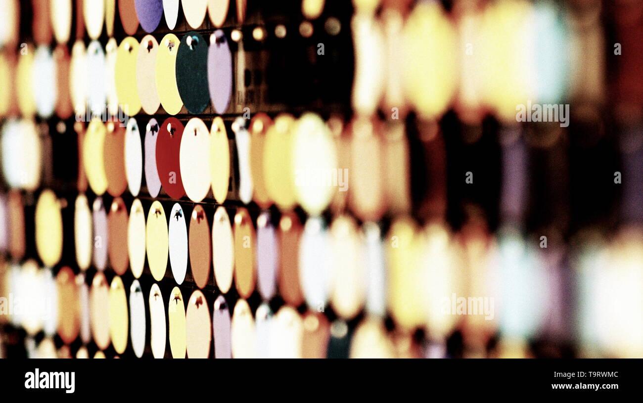 Close up of metal circles Stock Photo