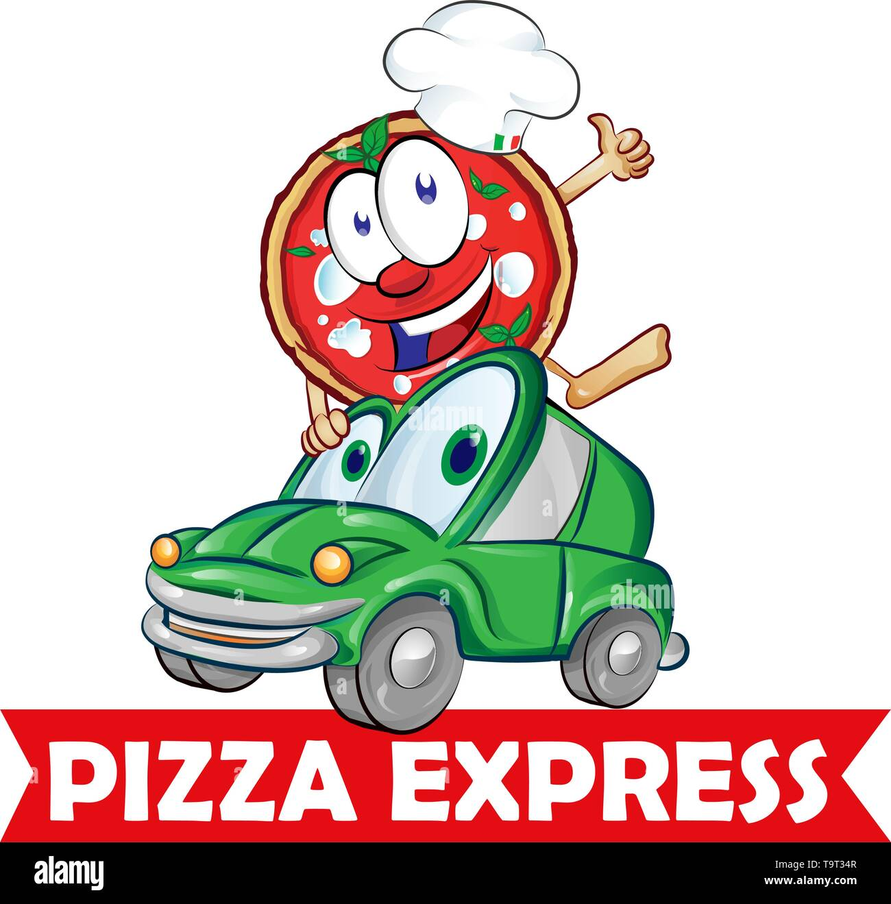 Pizza Delivery Car Stock Photos Pizza Delivery Car Stock