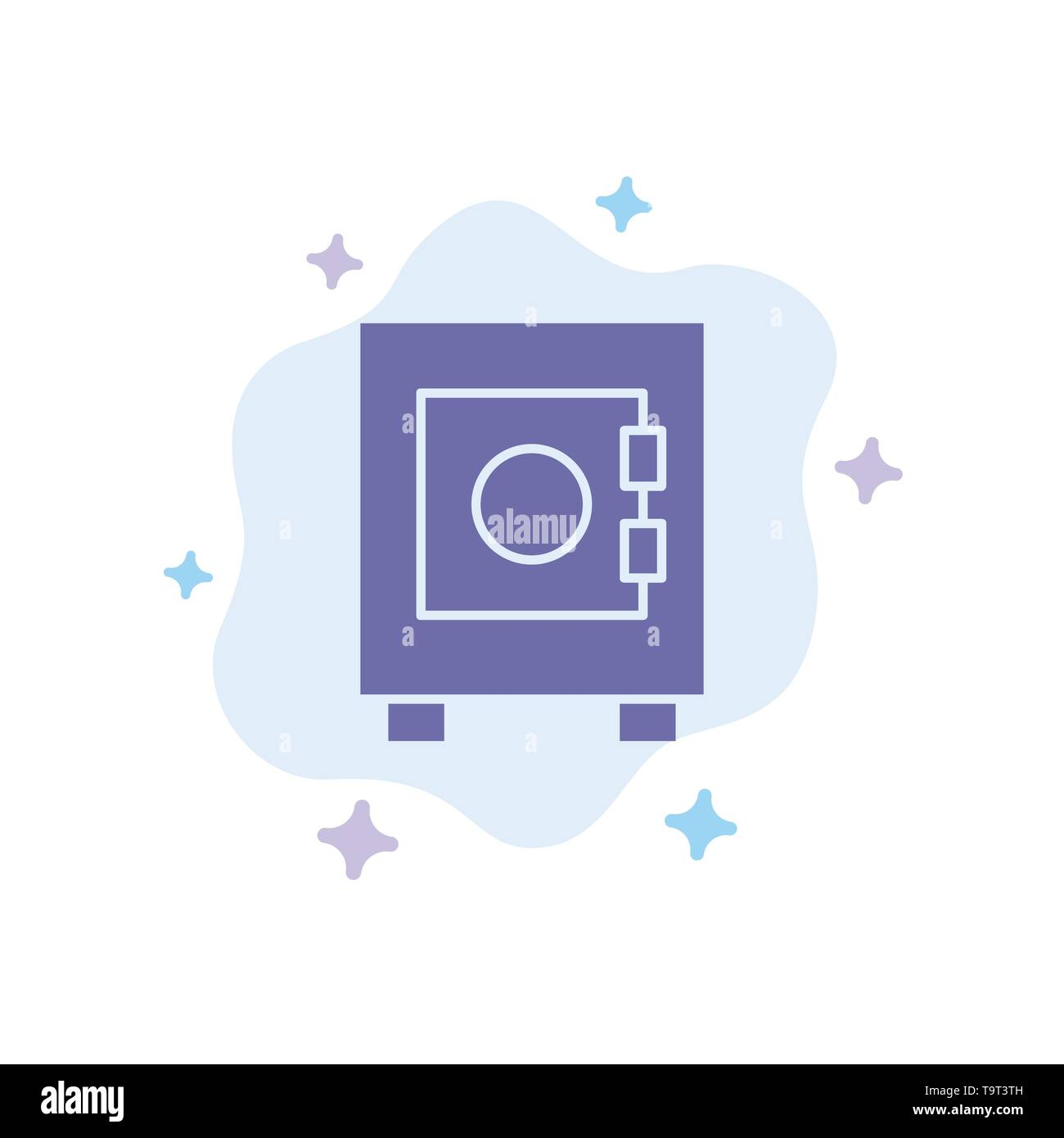 Locker, Lock, User Blue Icon on Abstract Cloud Background - Stock Image