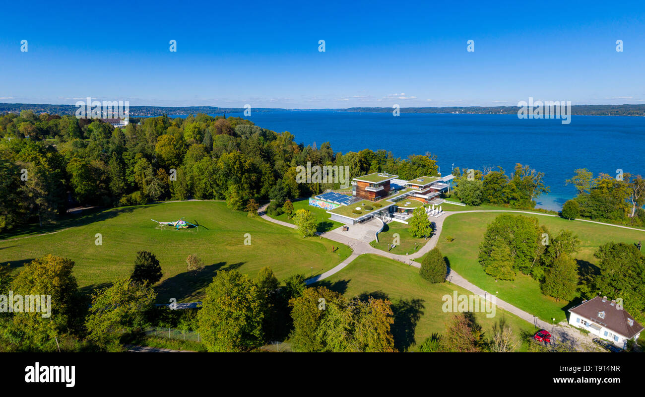 The book home museum in Bern reeds in the Starnberger lake, Bavarians, Germany, Europe, Das Buchheim Museum in Bernried am Starnberger See, Bayern, De Stock Photo