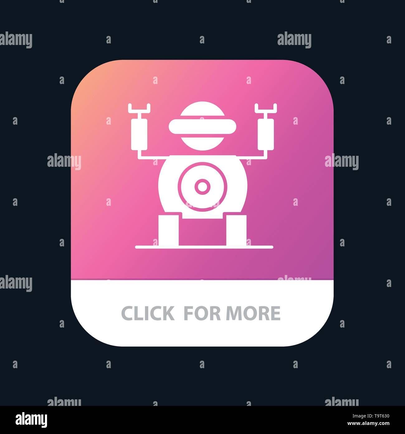 Robot, Technology, Toy Mobile App Button  Android and IOS