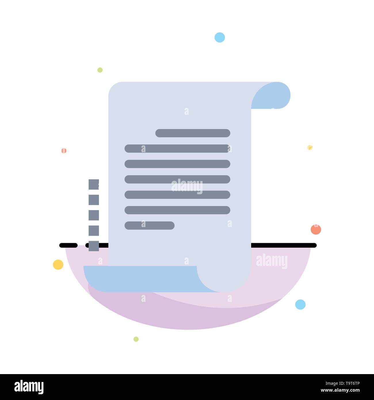 Decree, Novel, Scenario, Screenplay Abstract Flat Color Icon Template - Stock Image