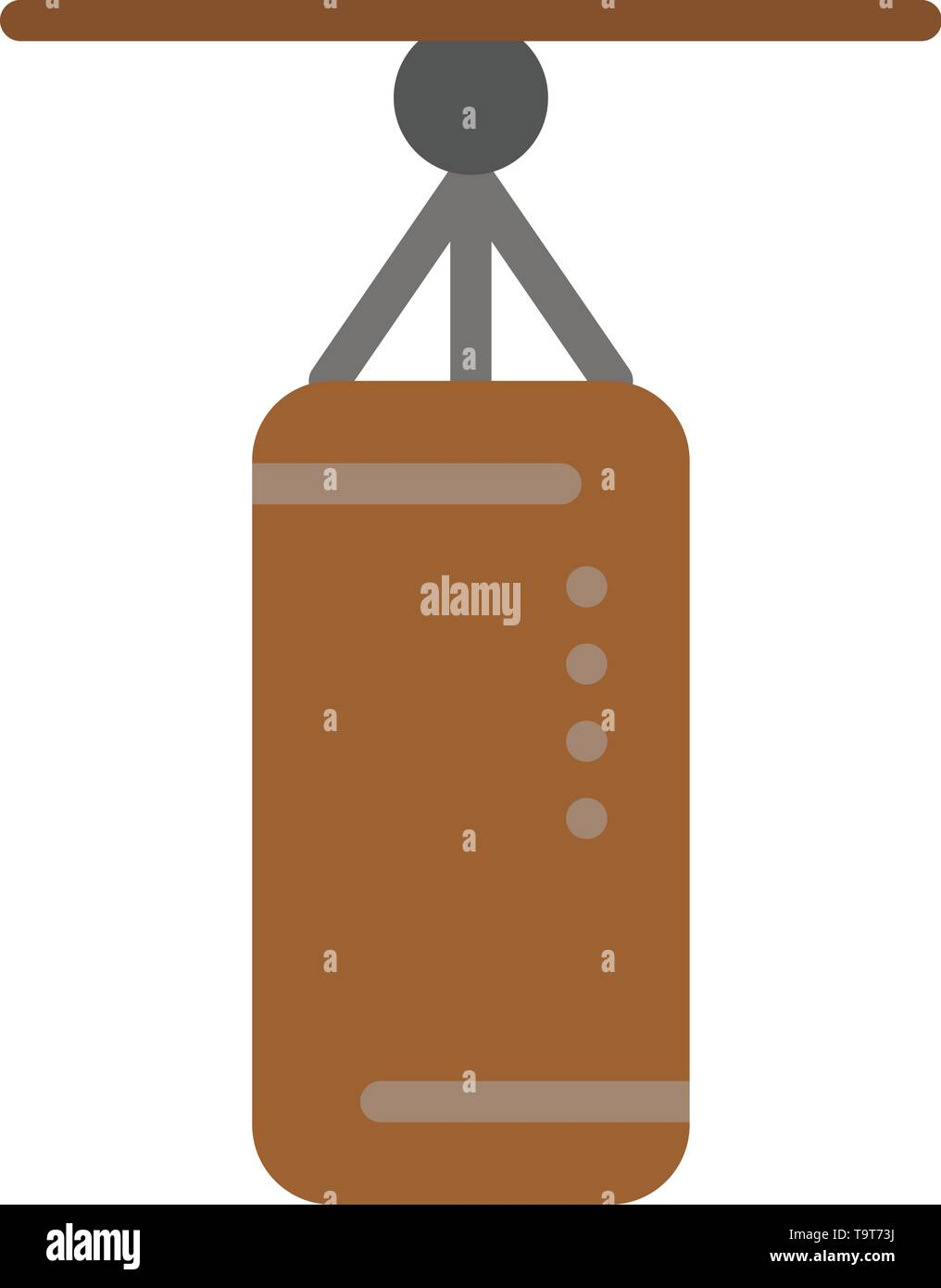 Bag, Boxing, Punch bag, Punching  Flat Color Icon. Vector icon banner Template - Stock Image