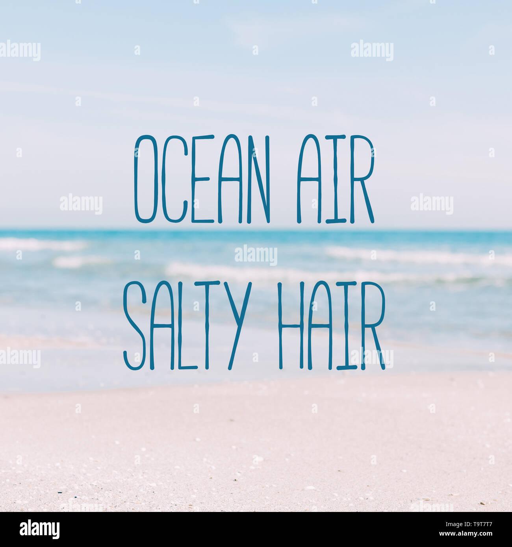 Summer sand beach and seashore waves background  Defocused