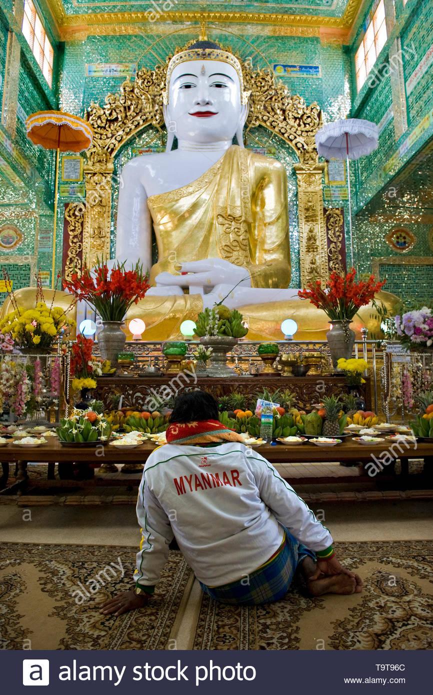 soon u ponya shin paya, sagaing, mandalay, myanmar - Stock Image