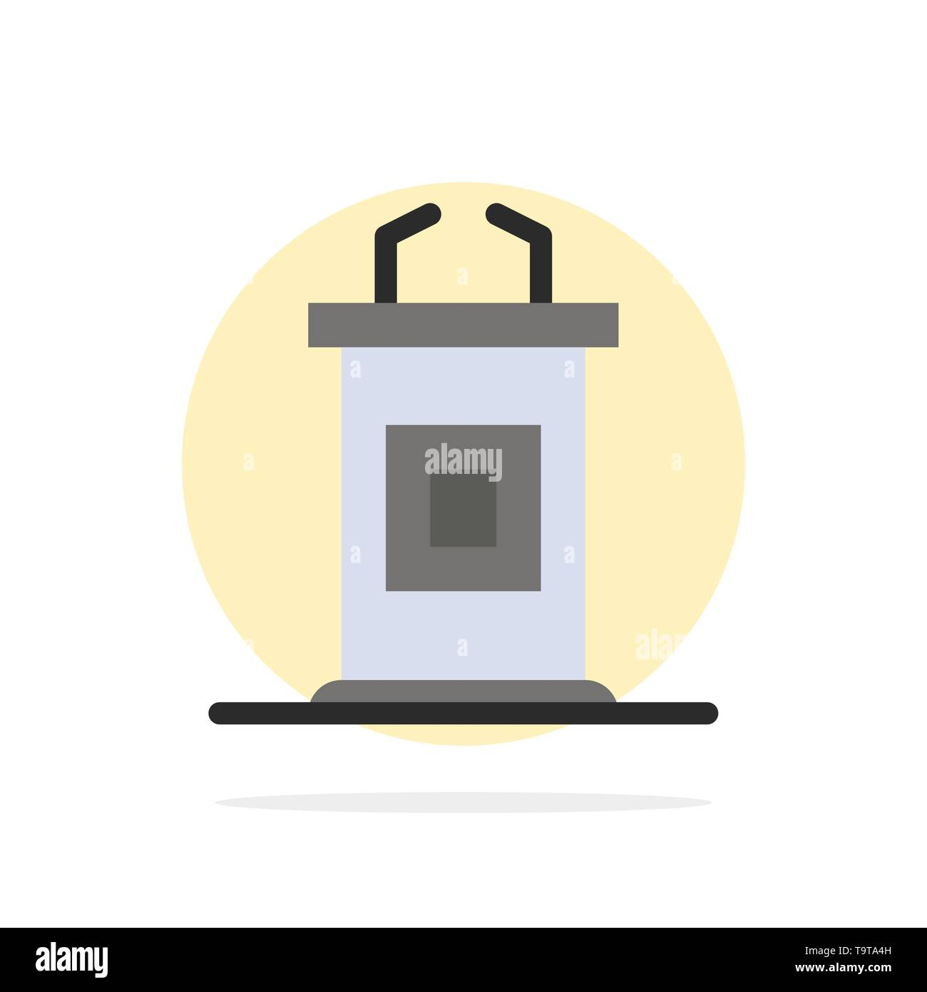 Desk Conference Meeting Professor Abstract Circle Background Flat