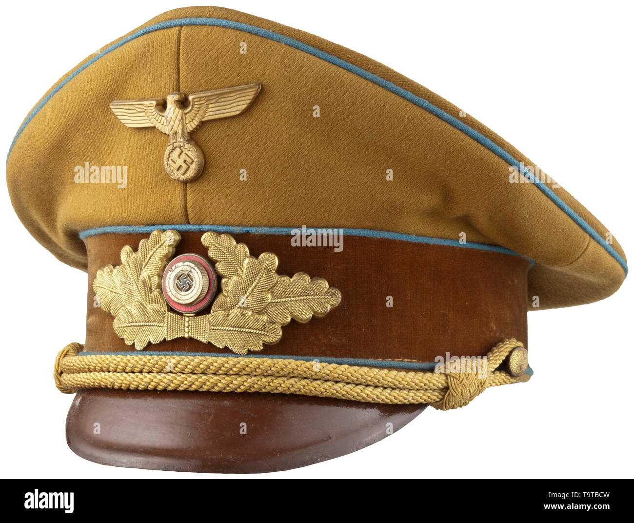 A visor cap M 39 for political leaders in the NSDAP district leadership depot piece with RZM tag historic, historical, 20th century, Editorial-Use-Only - Stock Image