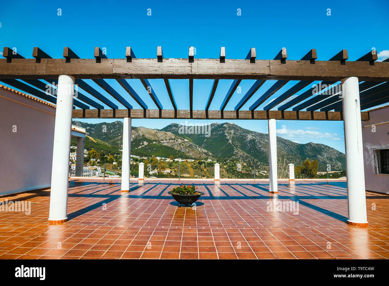 viewpoint in Mijas near malaga, Andalusia, Spain - Stock Image