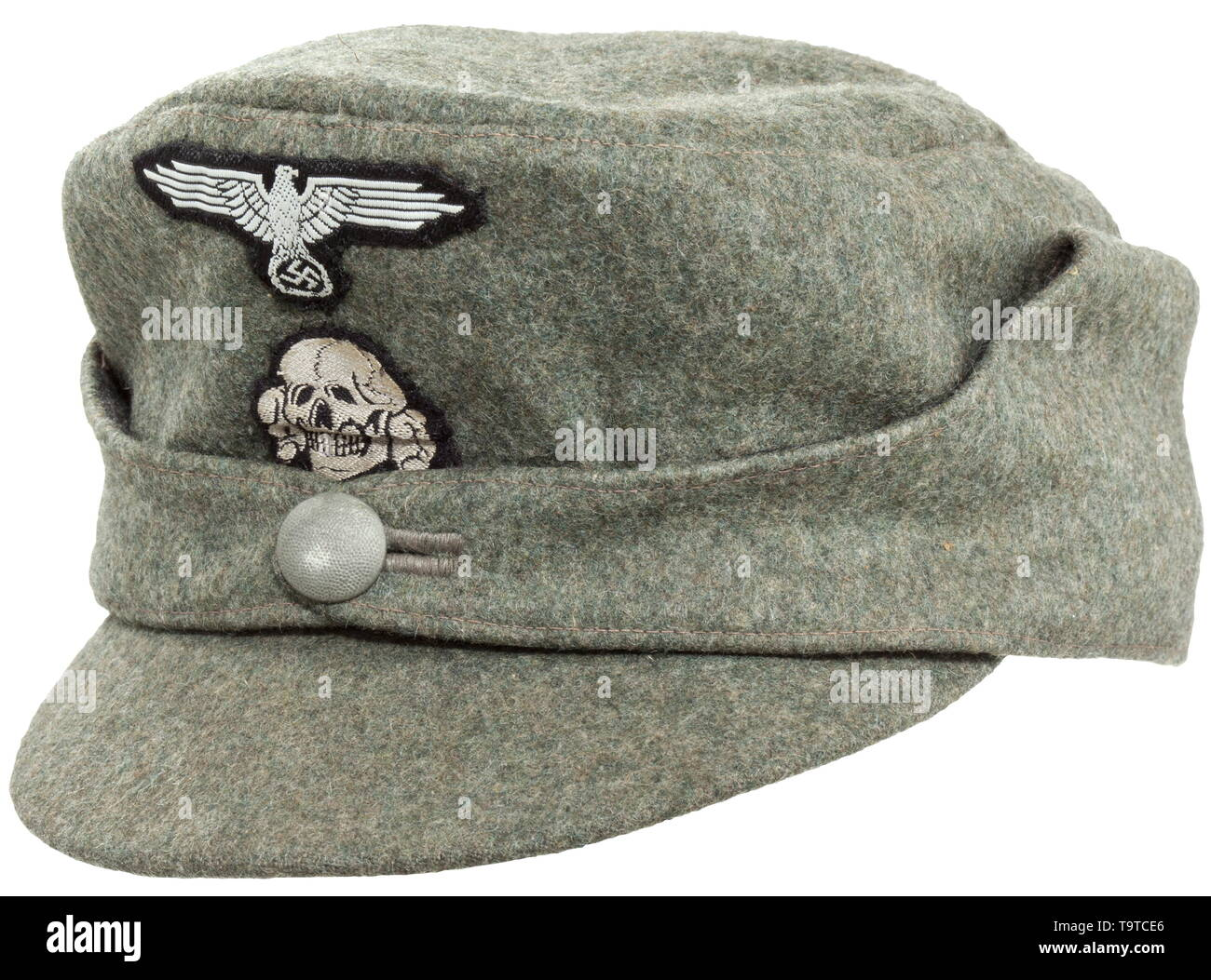 7afb9f1a38d7 A field cap M 43 for enlisted men/NCOs of the Waffen-SS lined