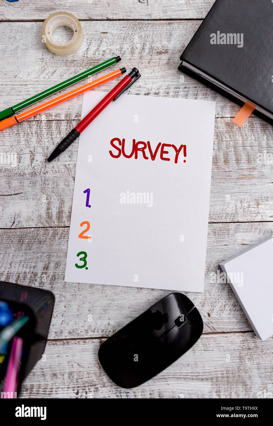 Conceptual hand writing showing Survey  Concept meaning