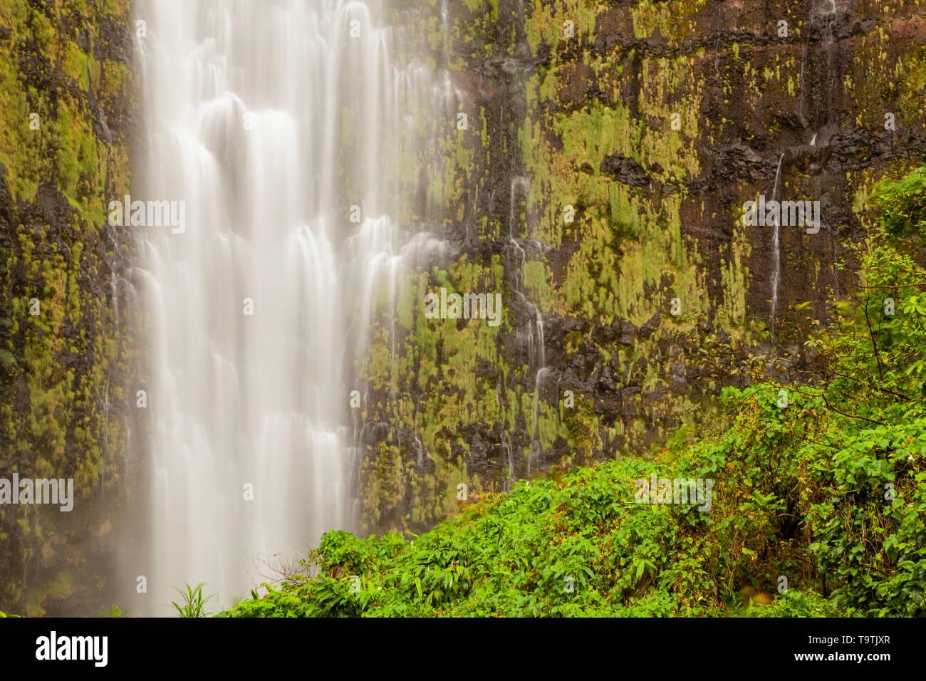 Waimoku Falls, Haleakala National Park, Maui, Hawaii, USA Stock Photo