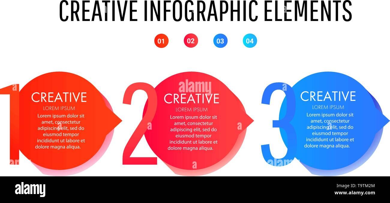 Creative infographic template. Set of minimal liquid gradient splashes Stock Vector