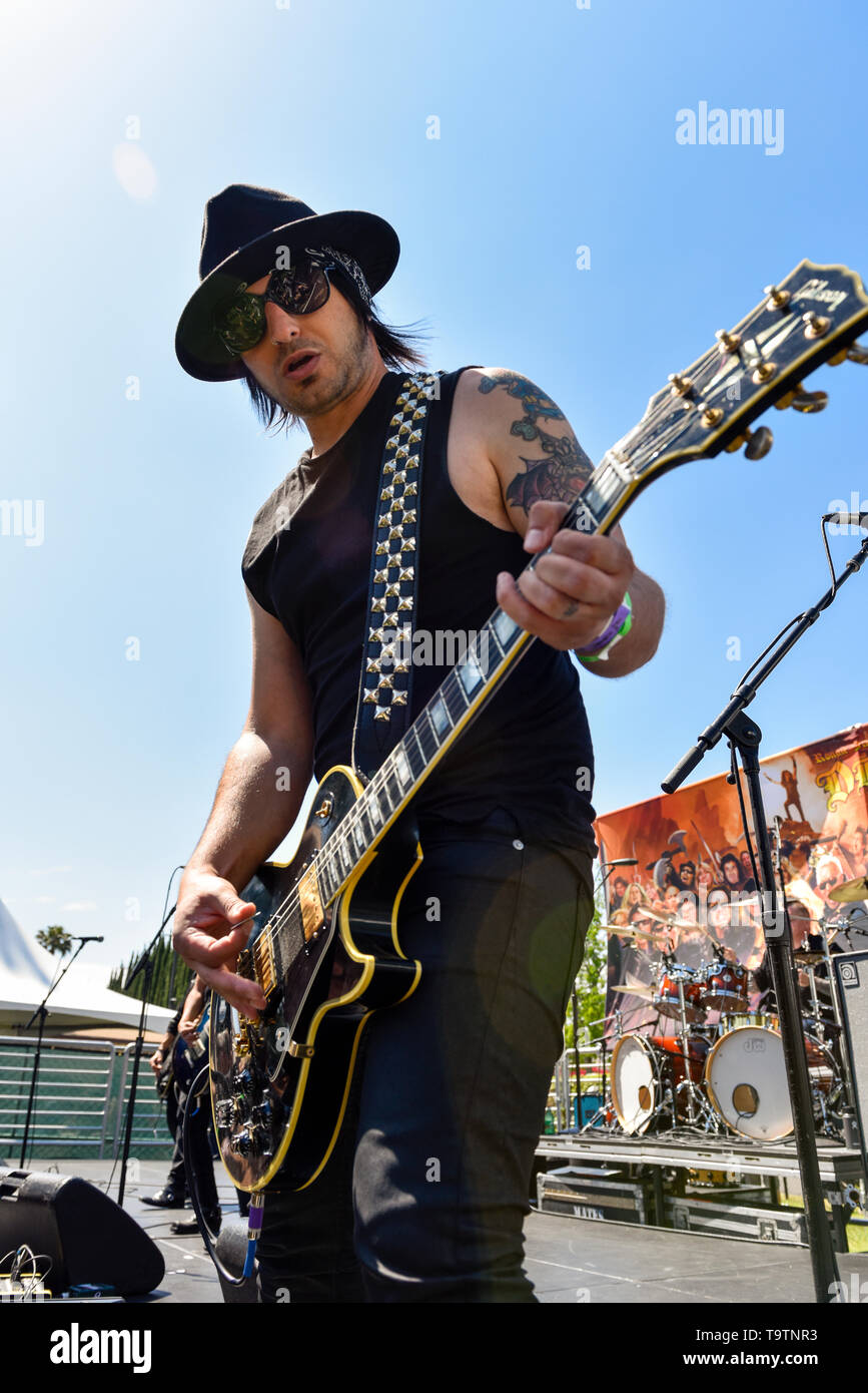 May 5, 2019, Encino, California, Bulletboys on stage at the 2019 Ride for Ronnie charity concert at Los Encinos State Historic Park. Stock Photo