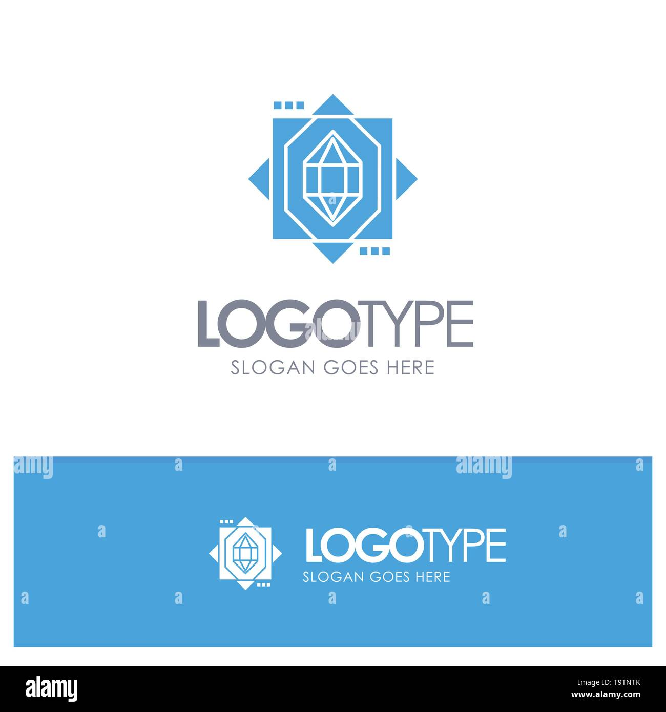 3d, Core, Forming, Design Blue Logo vector - Stock Vector