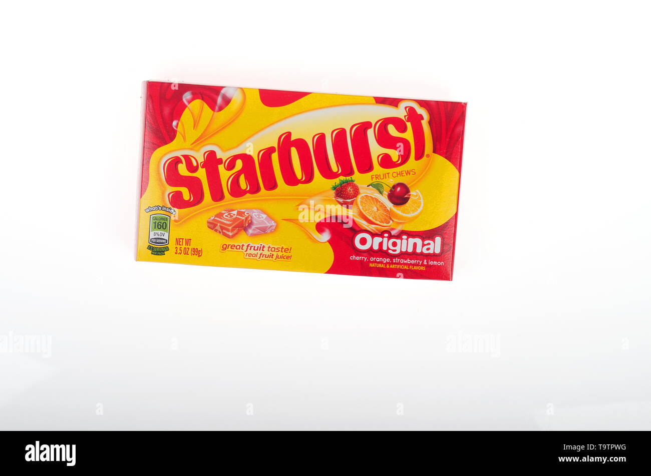 Starburst candy box by Wrigley Company division of Mars, Inc. - Stock Image