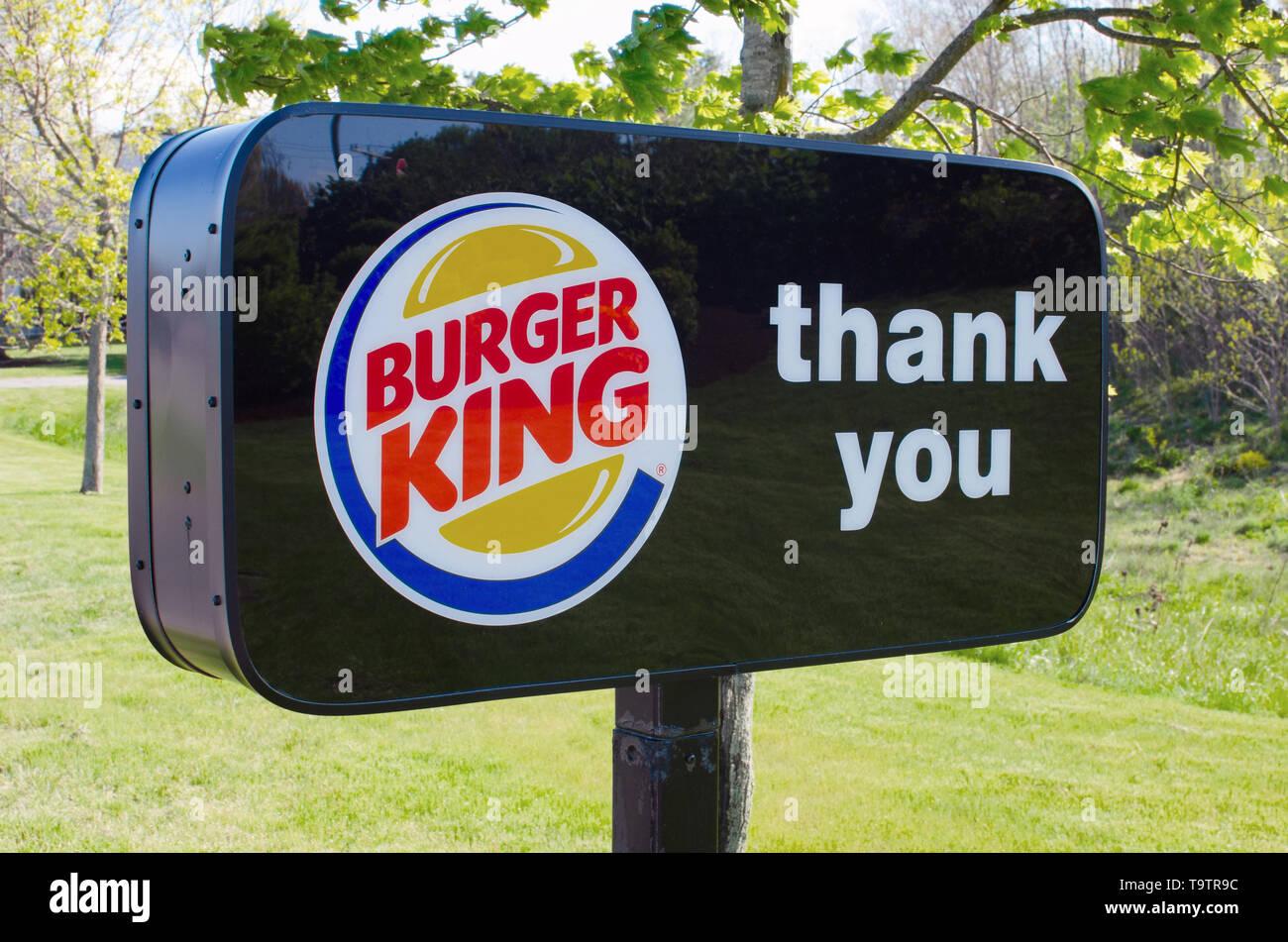 Burger King Thank You sign - Stock Image