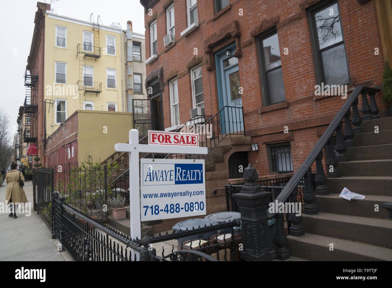 Cool Townhouse For Sale Sign In The Park Slope Neighborhood Download Free Architecture Designs Terchretrmadebymaigaardcom