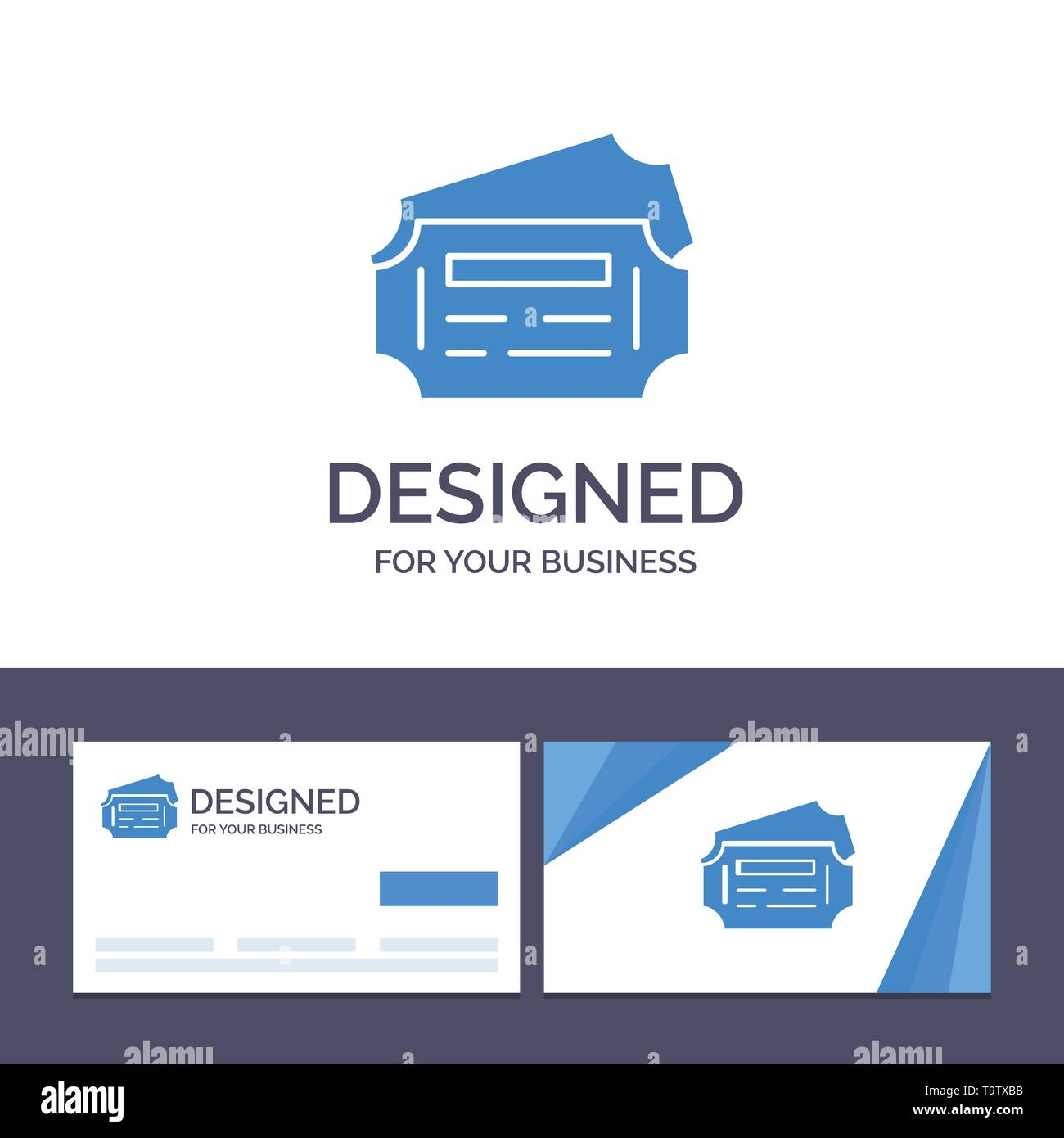 Creative Business Card and Logo template Train, Ticket, Station Vector Illustration - Stock Image