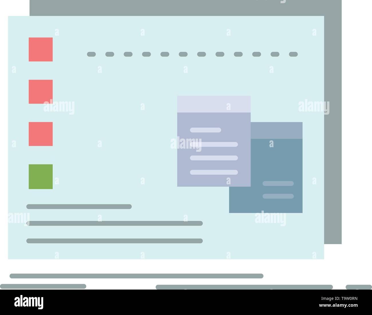 Window, Mac, operational, os, program Flat Color Icon Vector Stock Vector