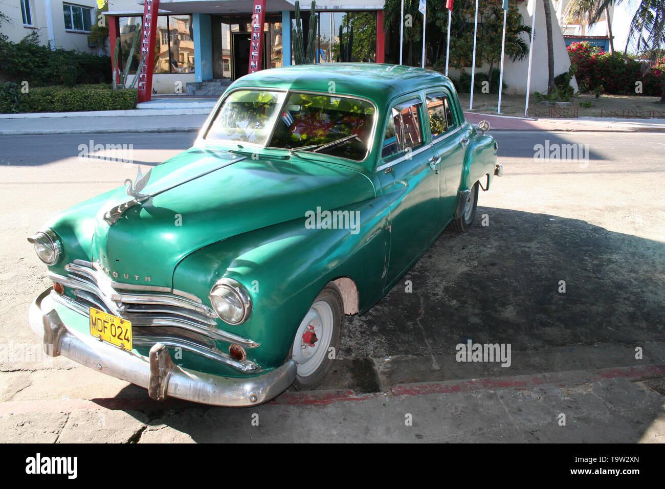 old car in Cuba - Stock Image