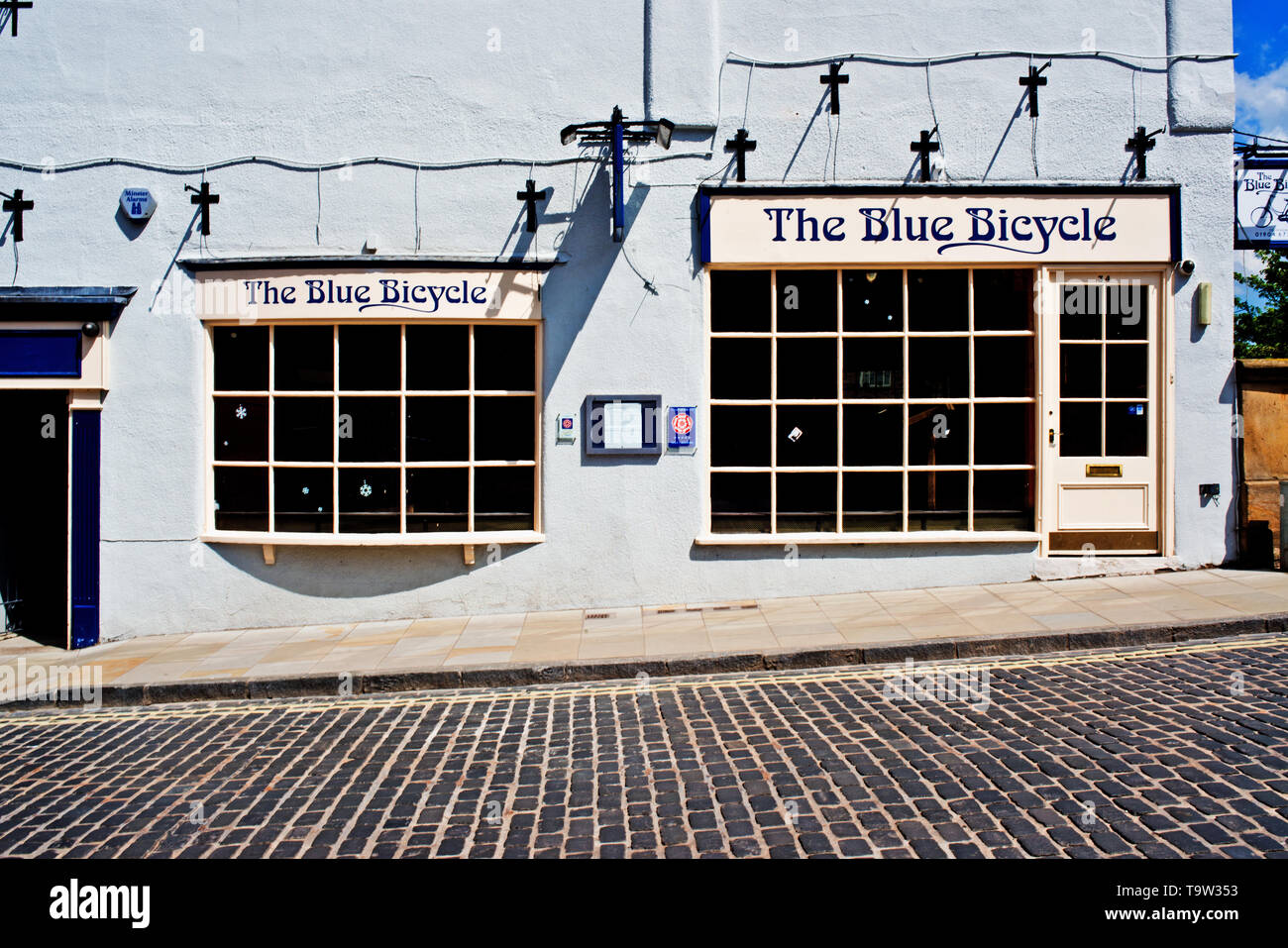 The Blue Bicycle, Fossgate, York, England - Stock Image