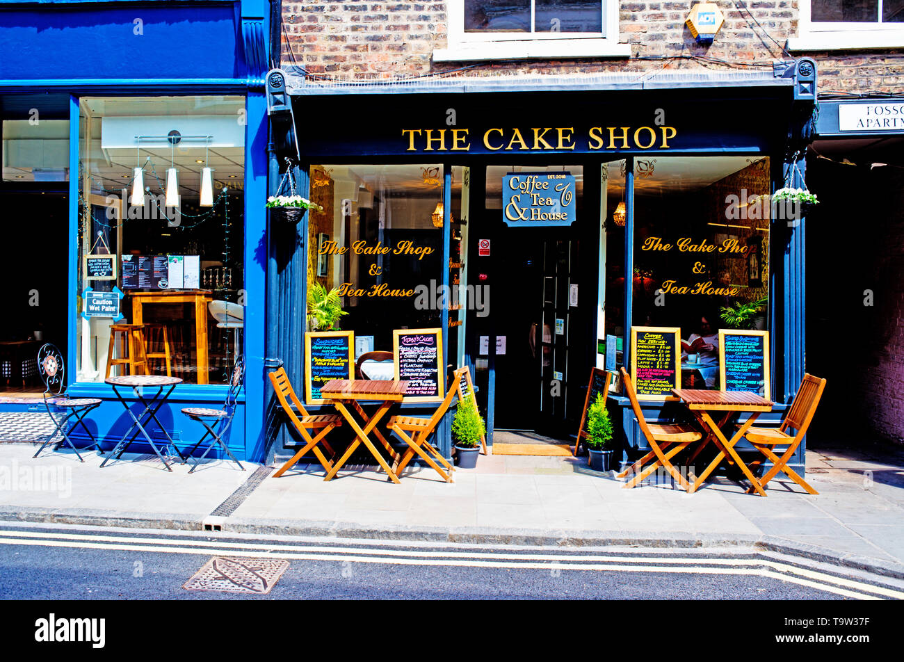 The Cake Shop, Fossgate, York, England - Stock Image