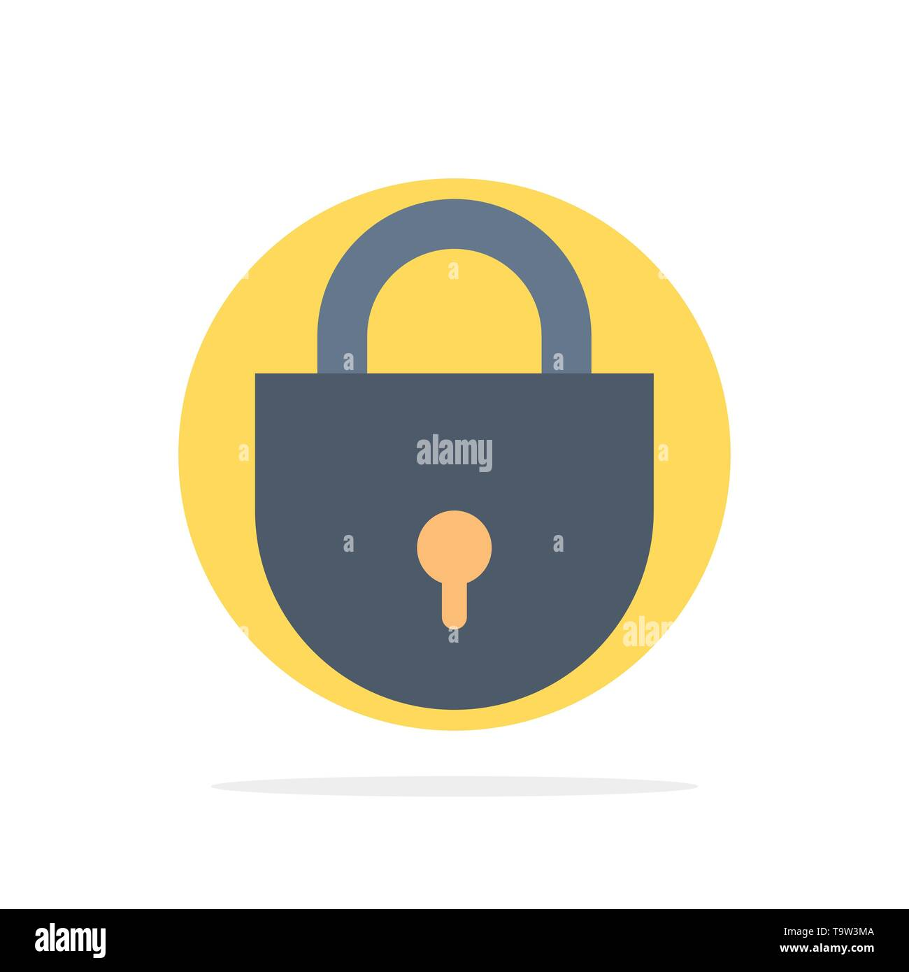 Internet, Lock, Locked, Security Abstract Circle Background Flat color Icon - Stock Image