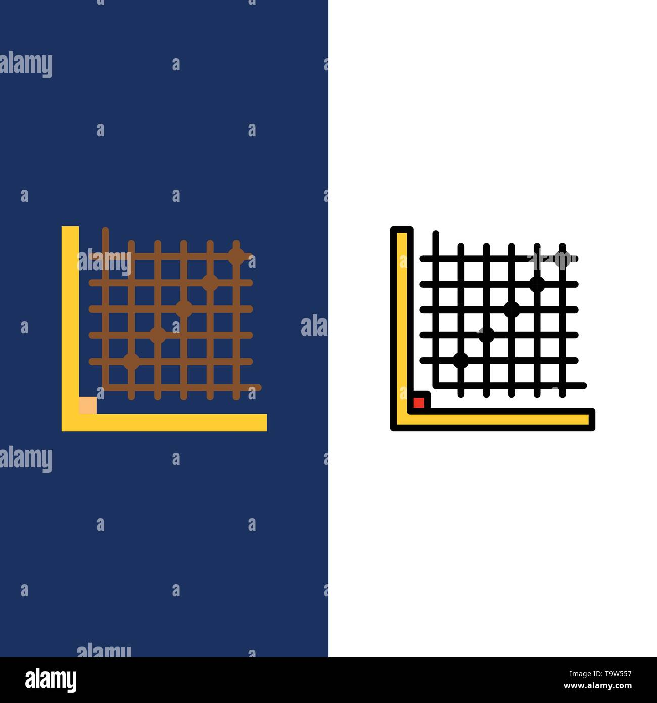 Color, Correction, Edit, Form, Grid Icons  Flat and Line Filled Icon
