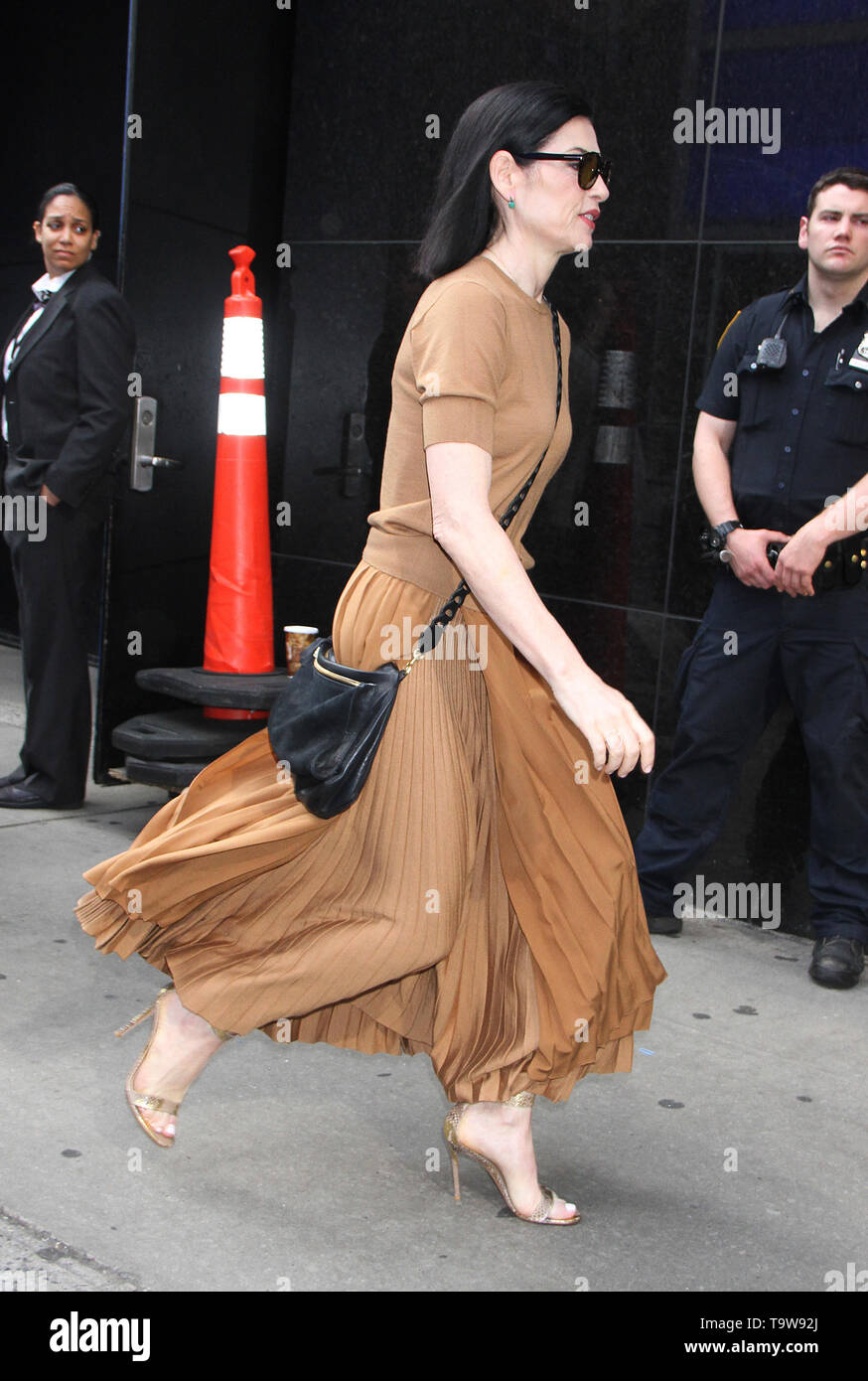 New York, USA. 20th May, 2019. NEW YORK, NY - May 20: Julianna Margulies at Good Morning America to talk about new series The Hot Zone in New York City on May 20, 2019. Credit: RW/MediaPunch Credit: MediaPunch Inc/Alamy Live News - Stock Image