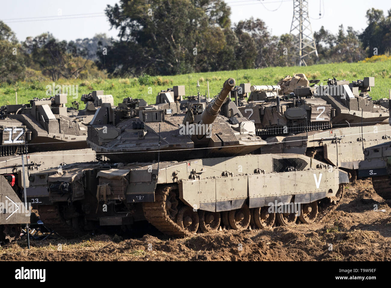 Nahal Oz, Israel  5th Apr, 2019  Israeli military vehicles